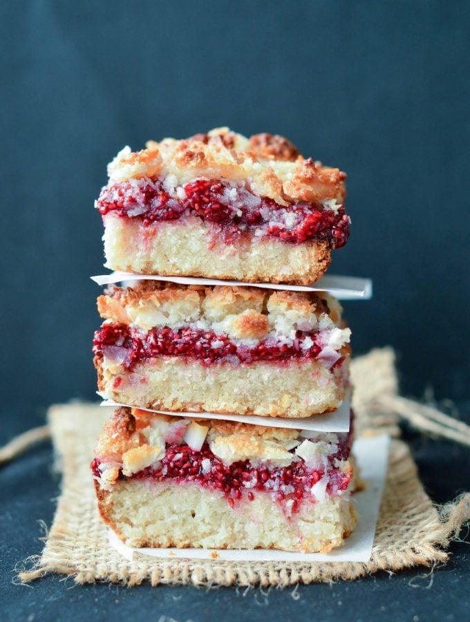 Healthy Raspberry Crumble Bars
