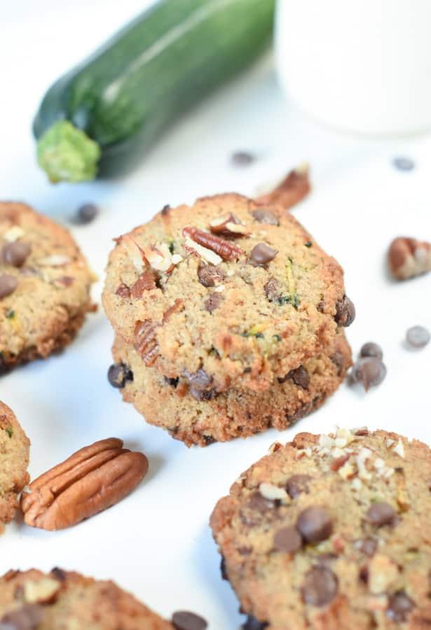 Keto Chocolate Chip Zucchini Cookies