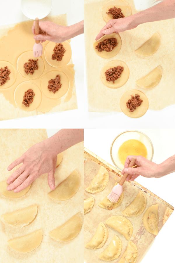 How to fold empanadas