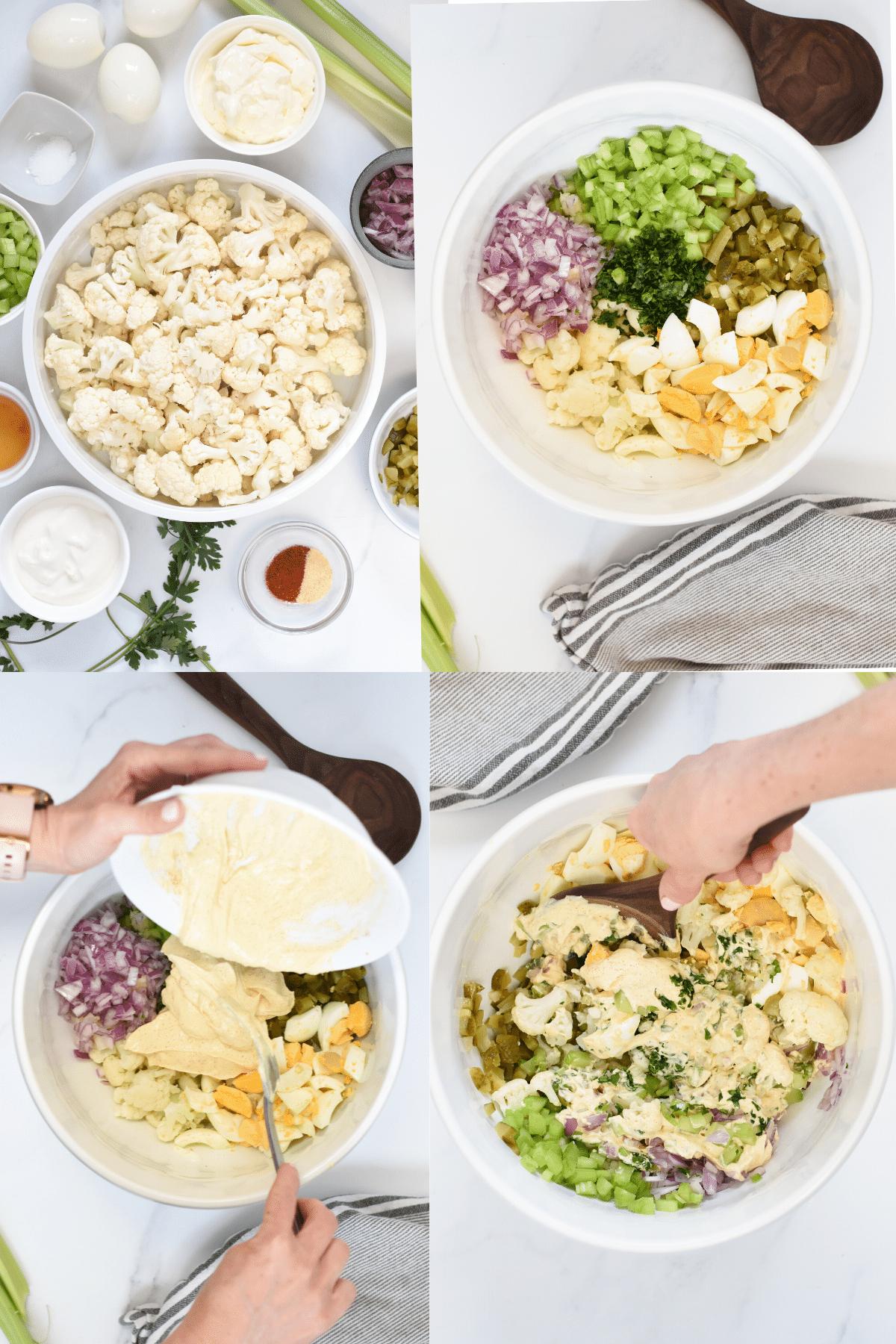 How to make Cauliflower Potato Salad
