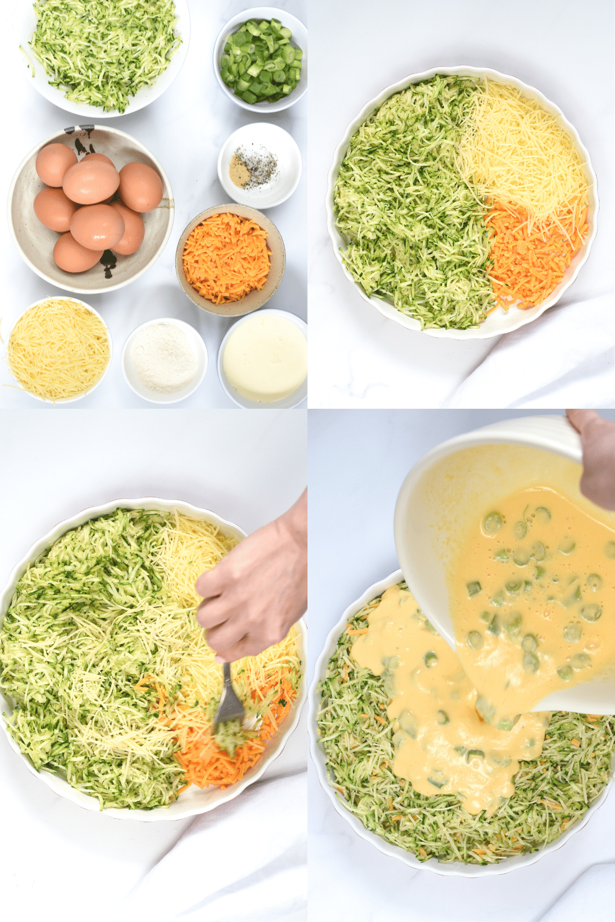 How to make Keto Crustless Zucchini Pie
