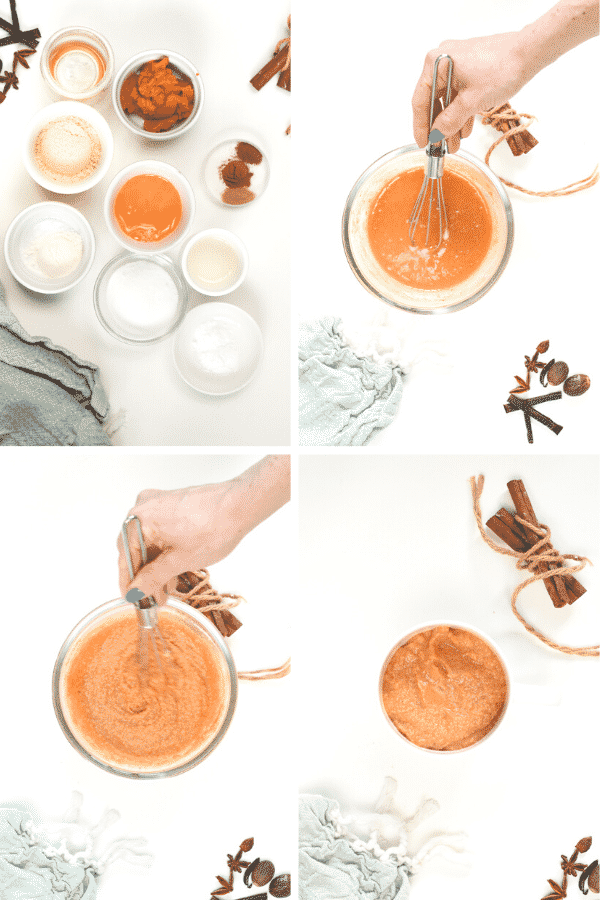 How to make Keto Pumpkin Spice Mug Cake