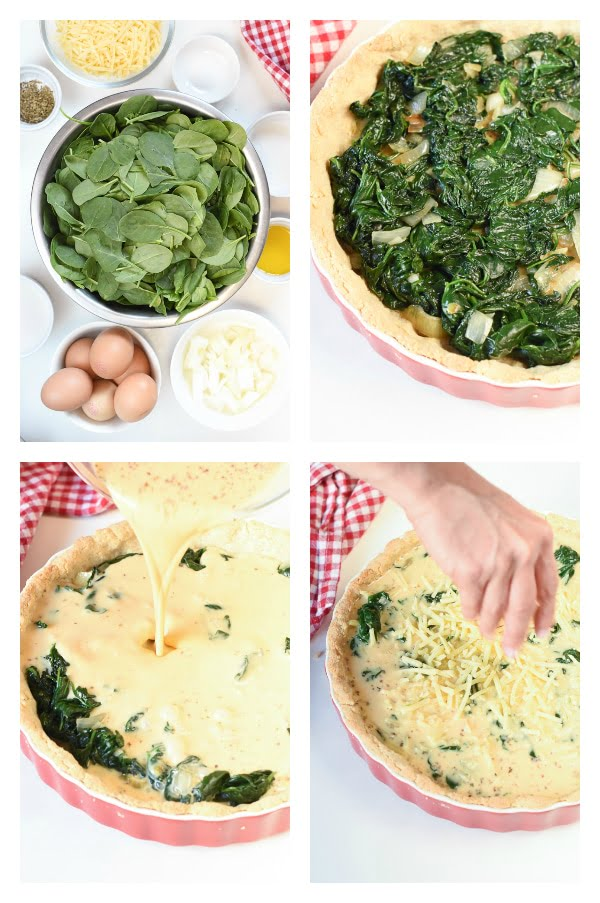 How to make Keto Spinach Quiche with Almond Flour