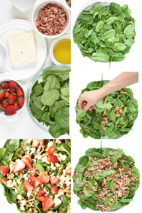 How to make Keto Spinach Salad