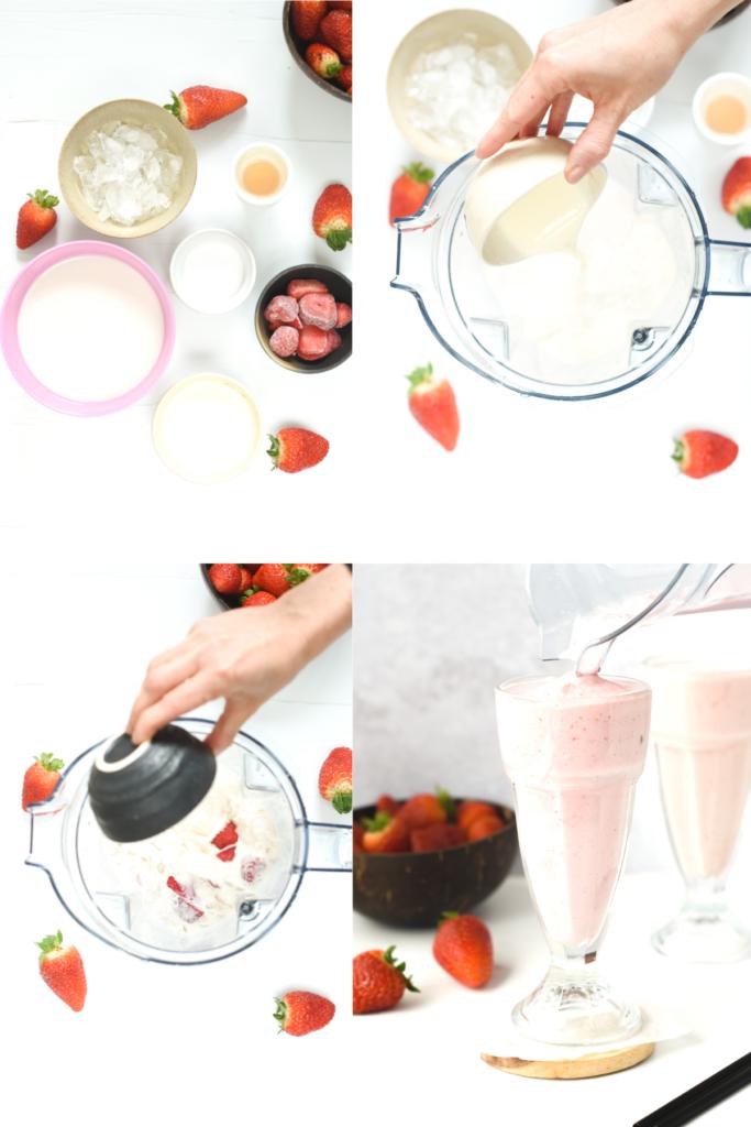 How to make Keto Strawberry Milkshake (1)