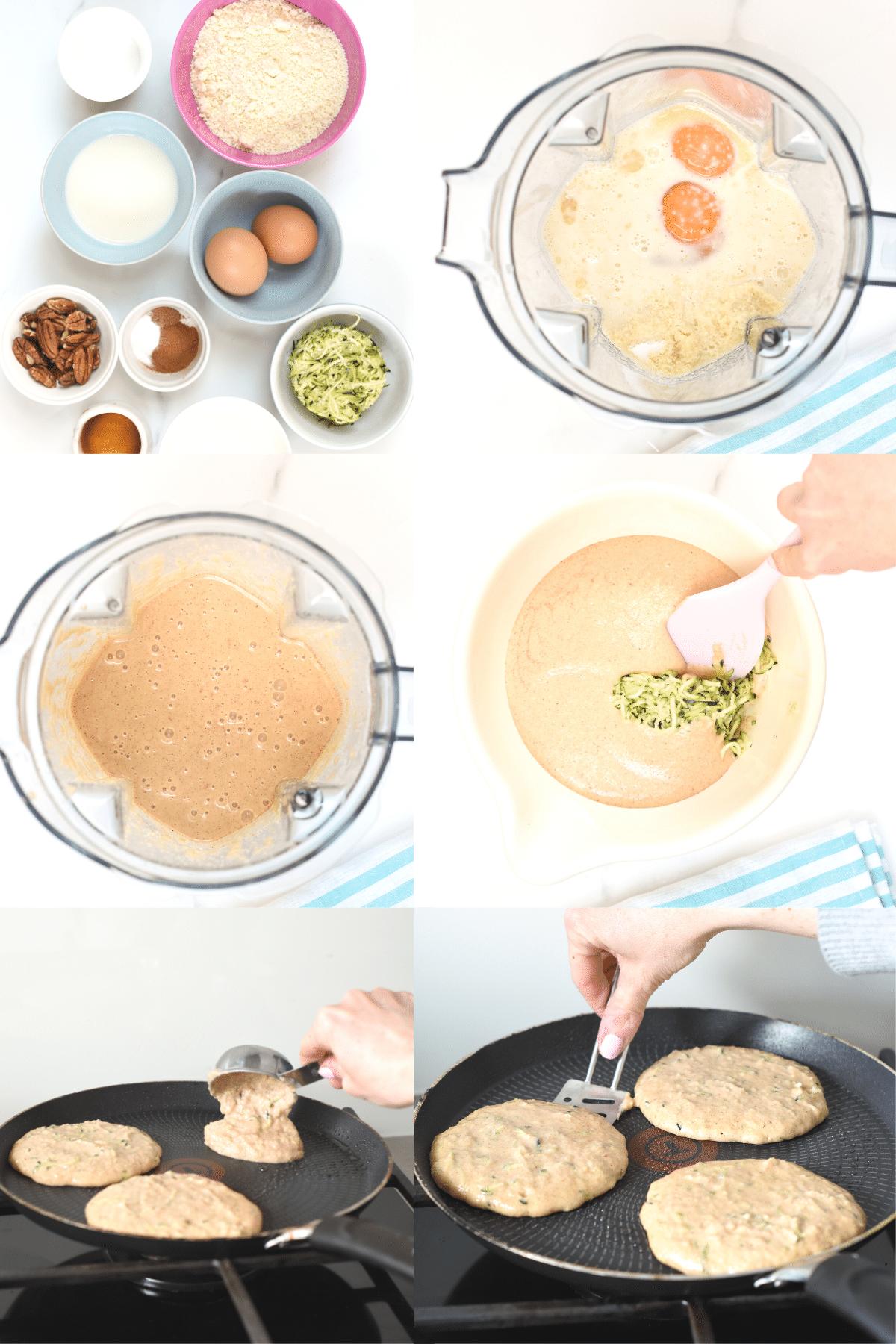 How to make Keto Zucchini Pancakes