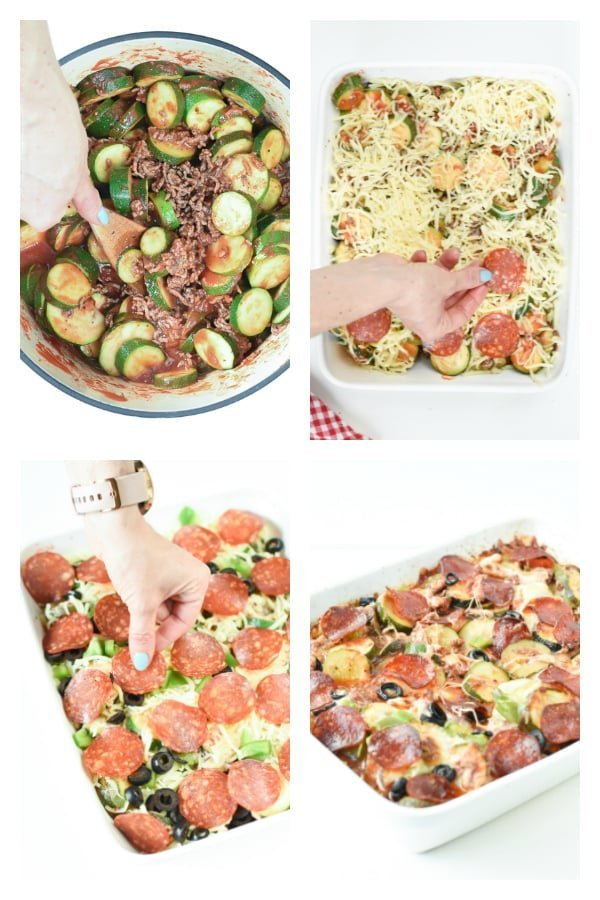 How to make a keto zucchini pizza casserole