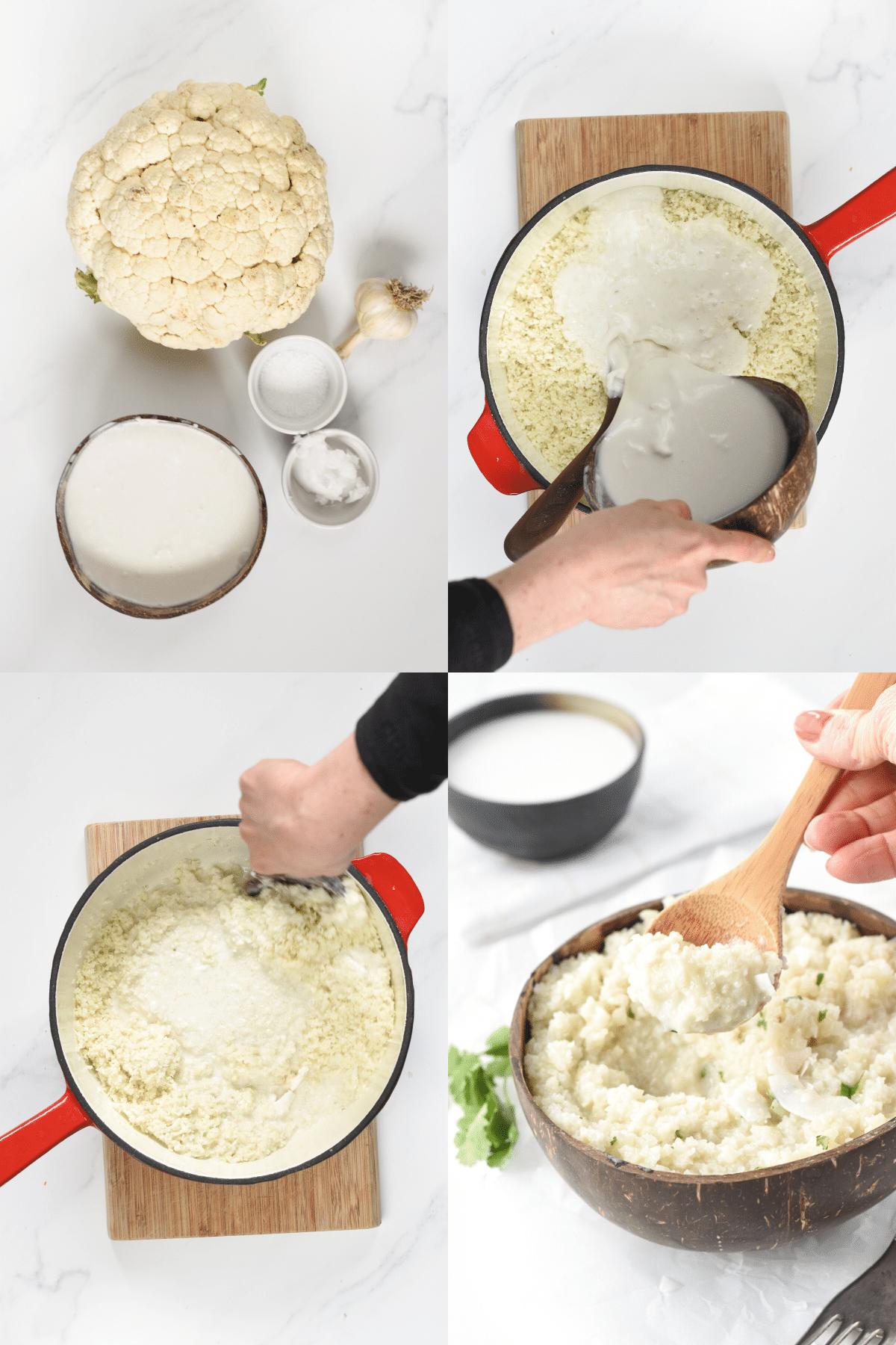 How to make coconut cauliflower rice