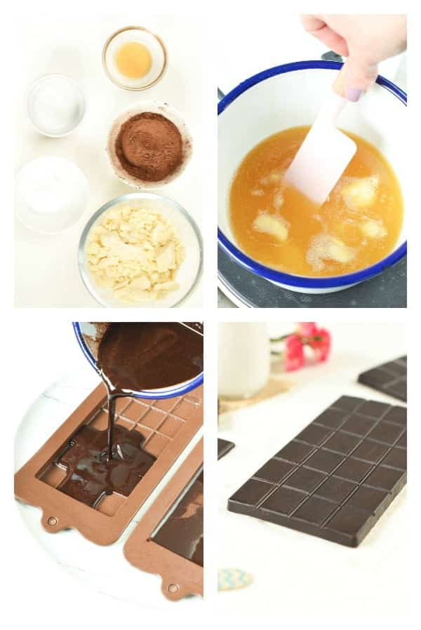How to make homemade Keto CHocolate bars with 4 ingredients