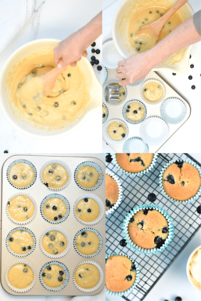 How to make keto blueberry muffins with almond flour