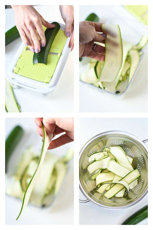 How to make zucchini noodles for lasagna