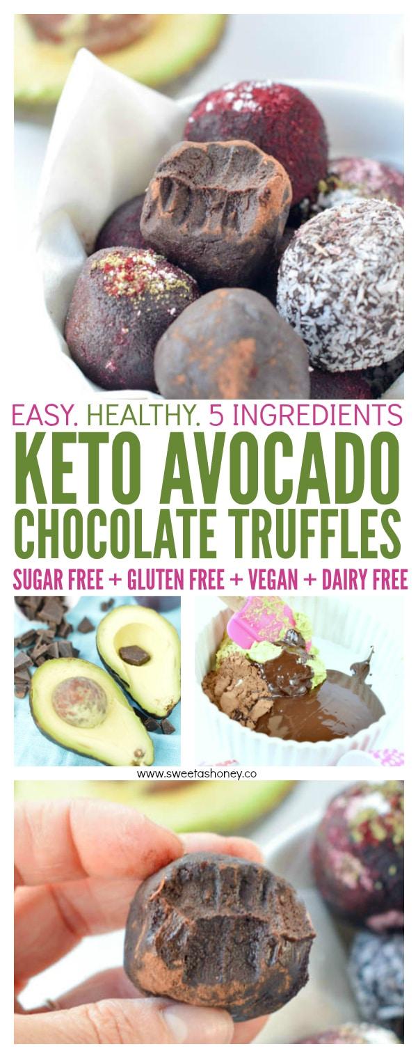 Keto chocolate avocado truffles