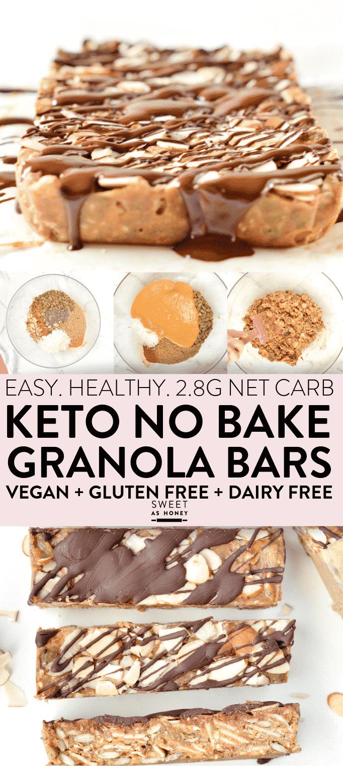 Low Carb Granola Bars Sugar Free Healthy No Bake
