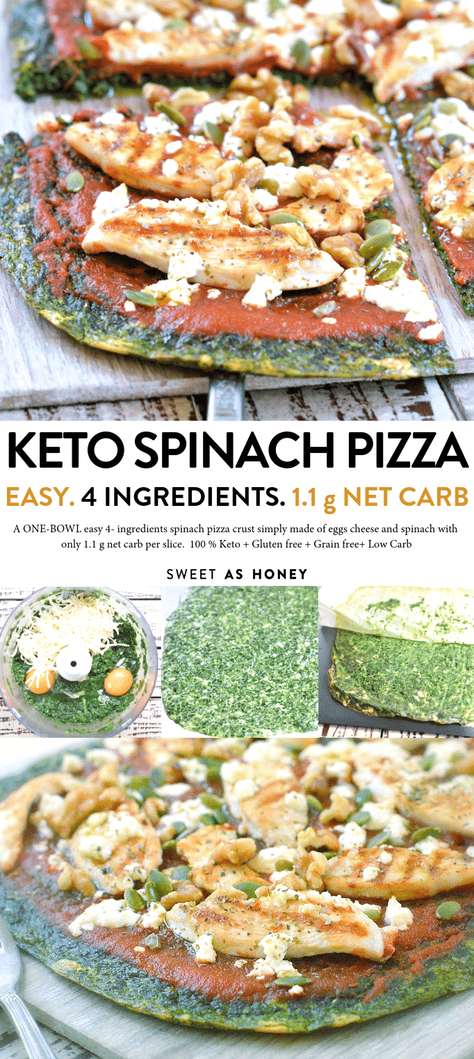 KETO SPINACH PIZZA