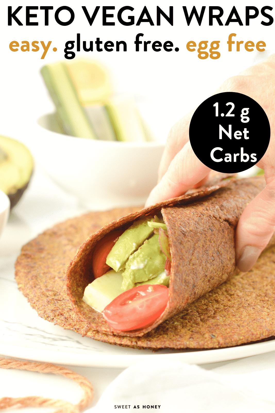 KETO FLAXSEED WRAPS - 4 ingredients easy flexible wraps ready in 10 minutes ! #KETO #KETOWRAPS #KETORECIPES #KETOMEALS #KETOTORTILLAS #TORTILLAS #GLUTENFREE #KETOVEGAN #lowcarb #keto #wraps #tortillas #vegan