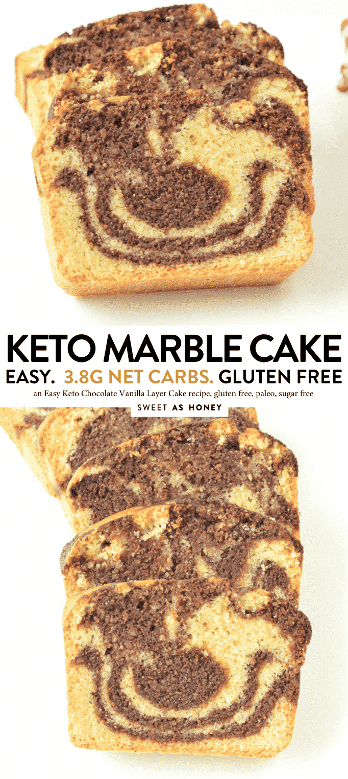 KETO MARBLE CAKE recipe from scratch, gluten free, paleo, easy chocolate vanilla layer cake #marblecake #keto #glutenfree #paleo #dairyfree #lowcarb #sugarfree #marble #chocolate #vanilla #layer