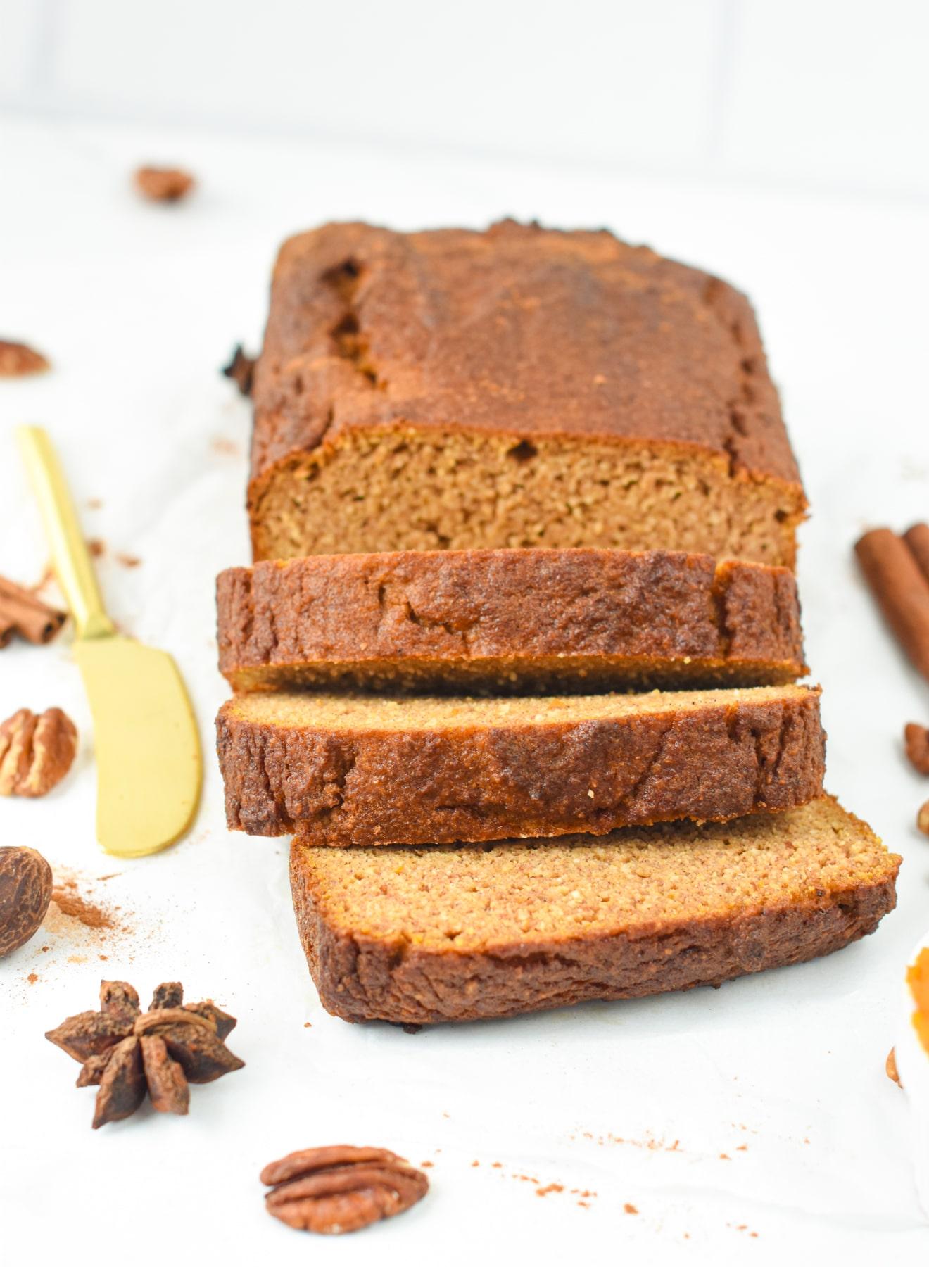 Keto Almond Flour Pumpkin Bread