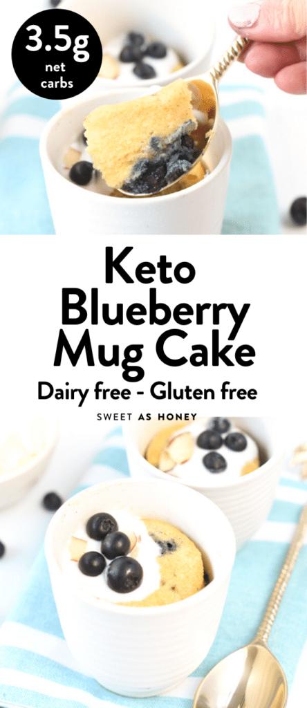 Keto Blueberry Mug cake