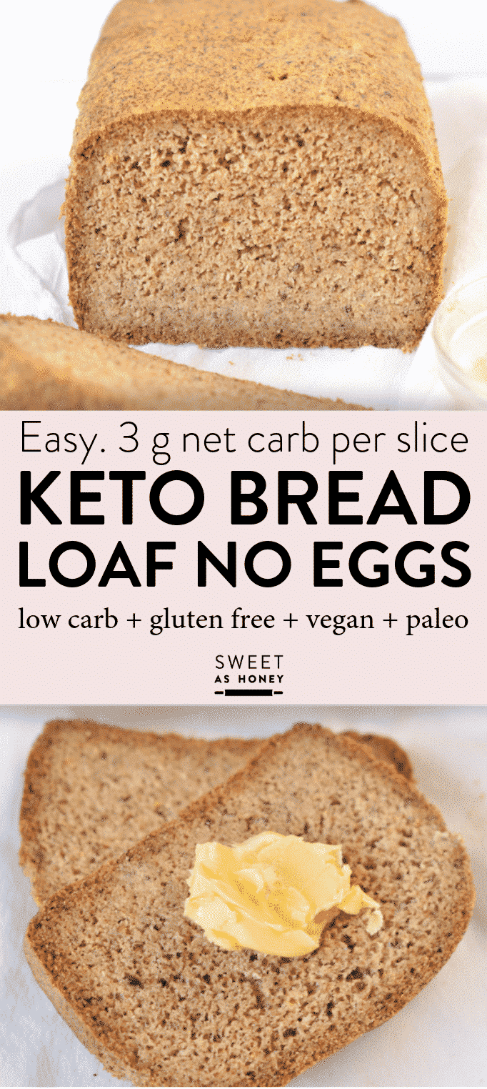 Keto bread loaf No Eggs, Low Carb + Vegan