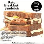 Keto Breakfast Sandwich Bacon and egg
