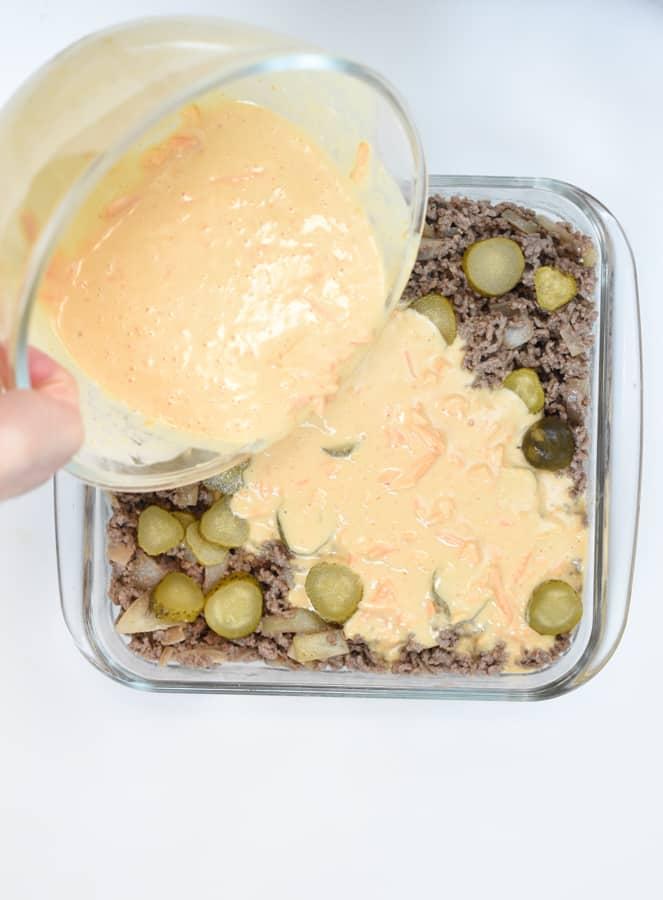 Keto Cheeseburger Casserole-5