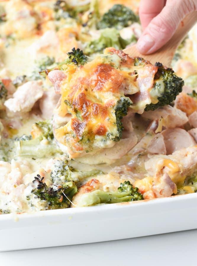 Keto Chicken Bacon Ranch Broccoli Casserole