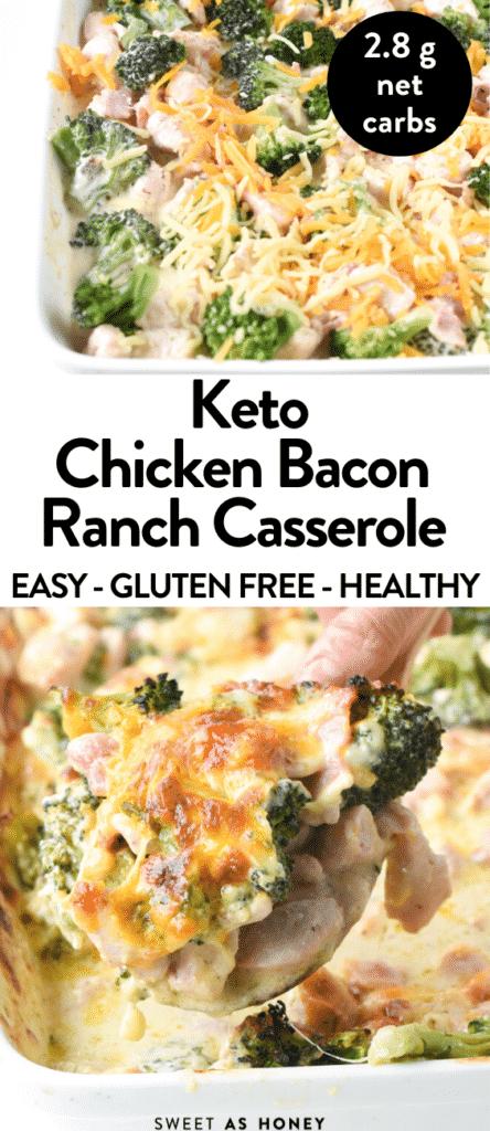 Keto Chicken Bacon Ranch Casserole