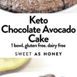 Keto Chocolate Avocado Cake