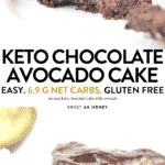 KETO CHOCOLATE AVOCADO CAKE, gluten-free, fudgy, paleo birthday cake #ketocake #ketochocolatecake #ketobirthdaycake #chocolateavocadocake #avocadochocolatecake