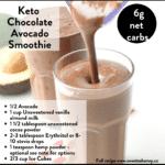 Keto Chocolate Avocado Smoothie