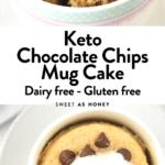 Keto Chocolate Chips Mug Cake