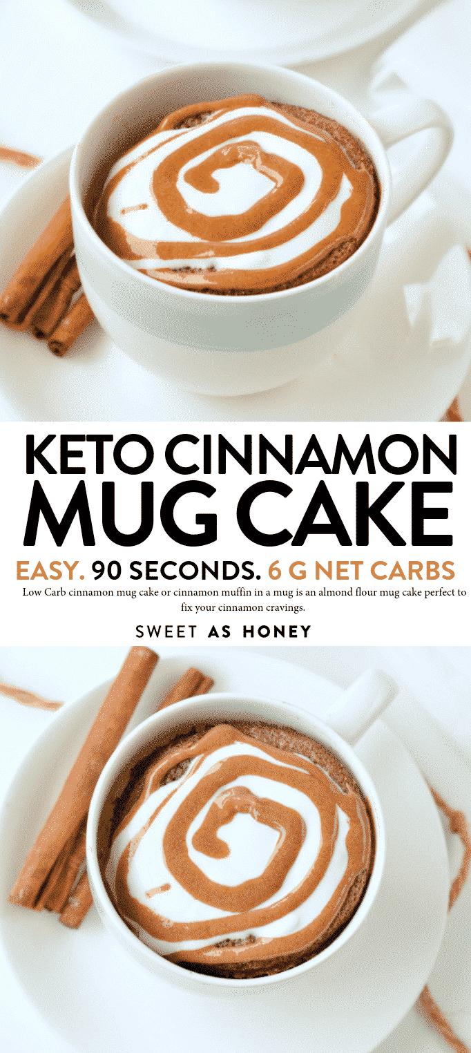 Keto Cinnamon Mug cake Low Carb