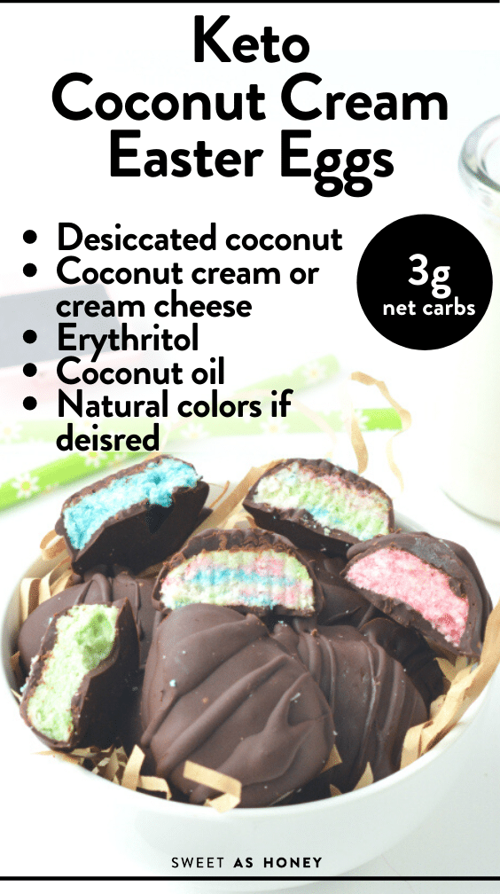 Keto Coconut cream Easter eggs