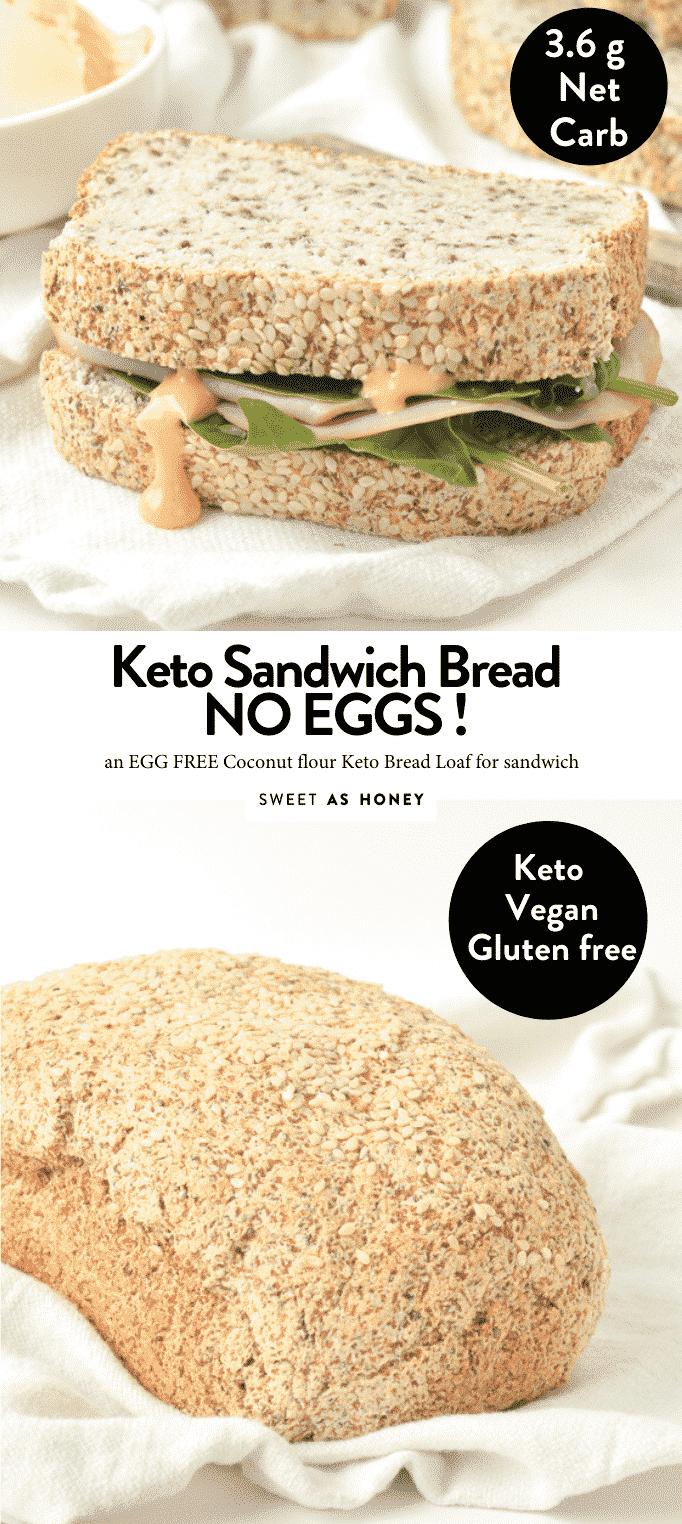 THE BEST KETO BREAD WITHOUT EGGS #ketobread #keto #egglessbread #almondflourbread #bestketobread #best #psylliumhusk #easy #vegan
