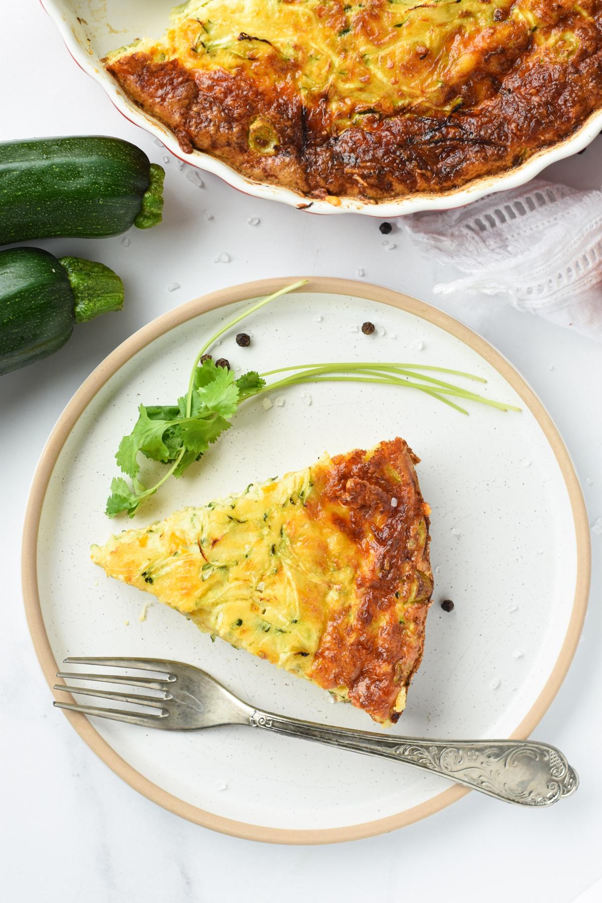 Keto Crustless Zucchini Pie