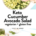 Keto Cucumber Avocado Salad
