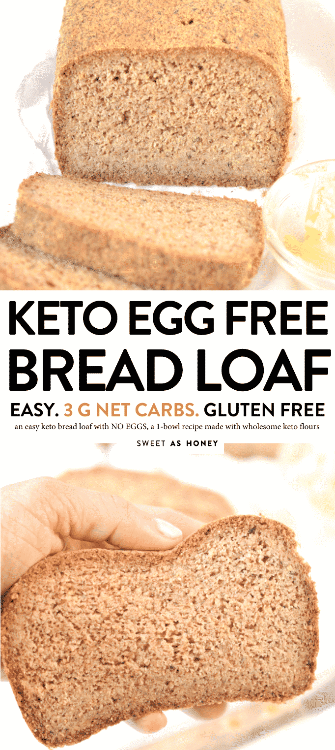 KETO BREAD LOAF NO EGGS #ketobread #ketovegan #keto #ketorecies #lowcarbbread #glutenfree #bread #loaf #no eggs #eggfree