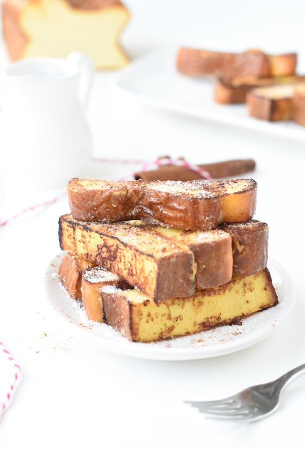 Keto French toast with egg loaf