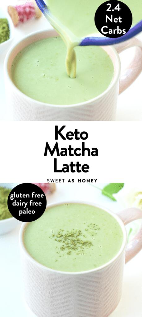 Keto Green Tea Latte with almond milk