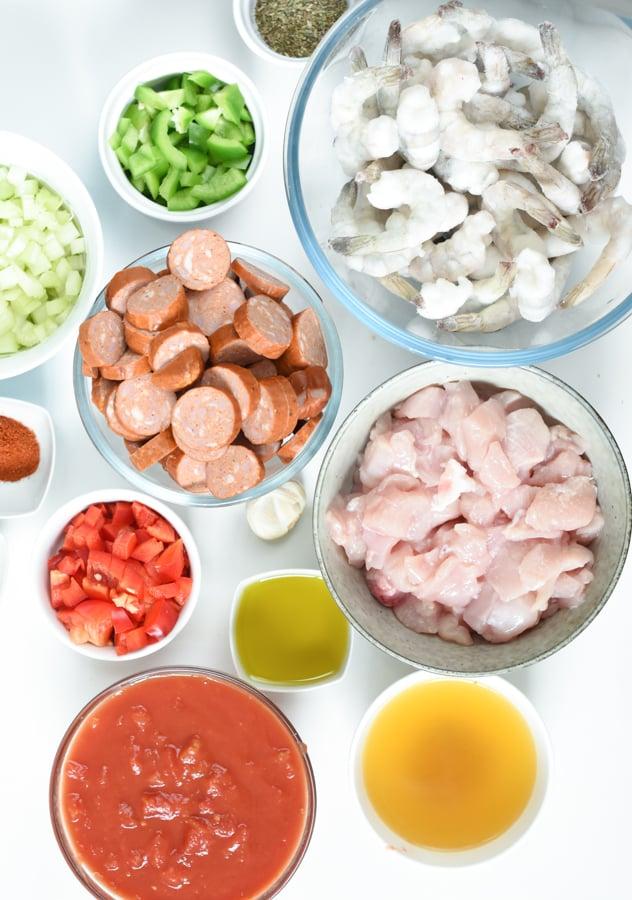 Keto Jambalaya ingredients