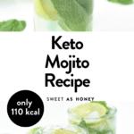 Keto Mojito cocktail sugar free