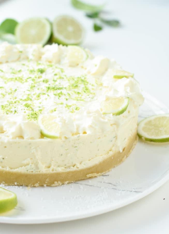 Keto NO BAKE key lime cheesecake