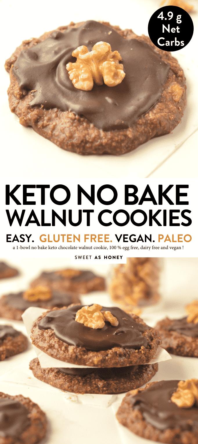 KETO NO BAKE WALNUTS COOKIES in 5 minutes #ketocookies #lowcarbcookies #oconut #easy #in5minutes #ketorecipes #ketosnacks #ketodesserts #walnuts #glutenfree #nobake #veganketo