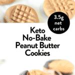 Keto No Bake Peanut Butter Cookies Vegan