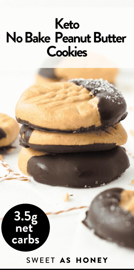 Keto No Bake Peanut Butter Cookies