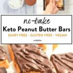 Keto No bake peanut butter bars