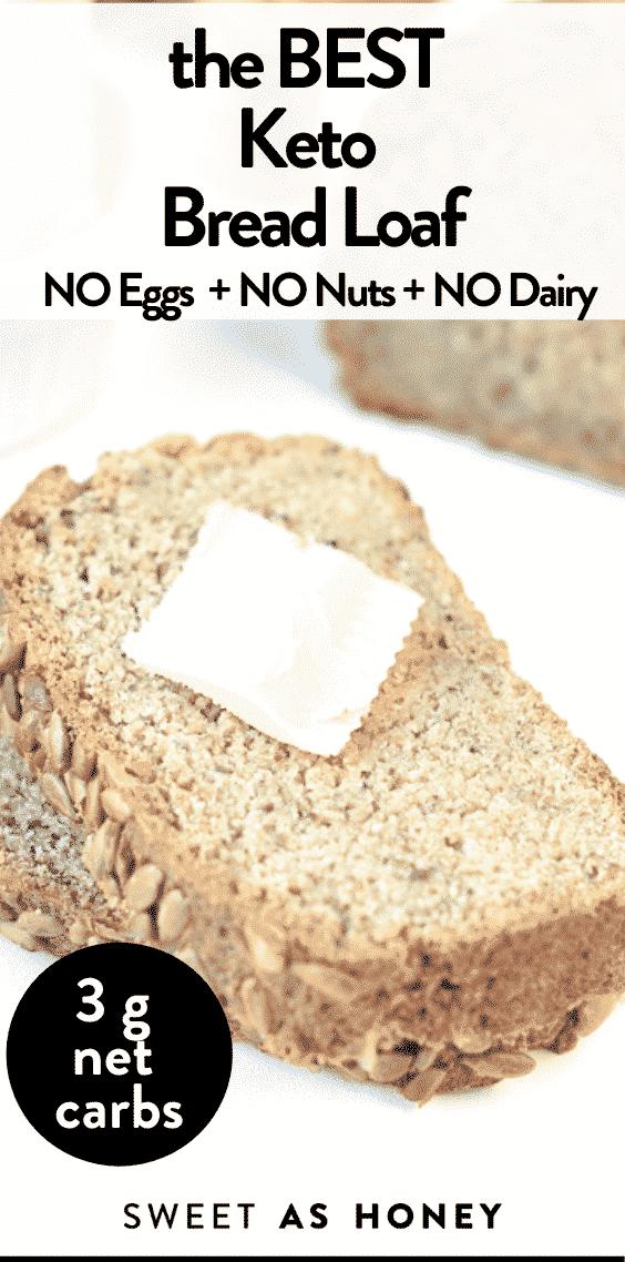 Keto Nut Free Egg-Free Bread
