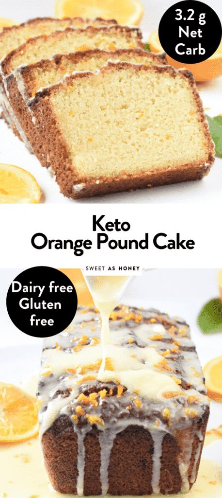 Keto Orange pound cake with almond flour