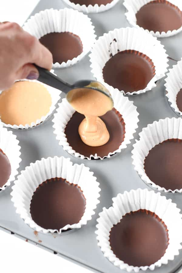 Keto Peanut Butter Cups first layer