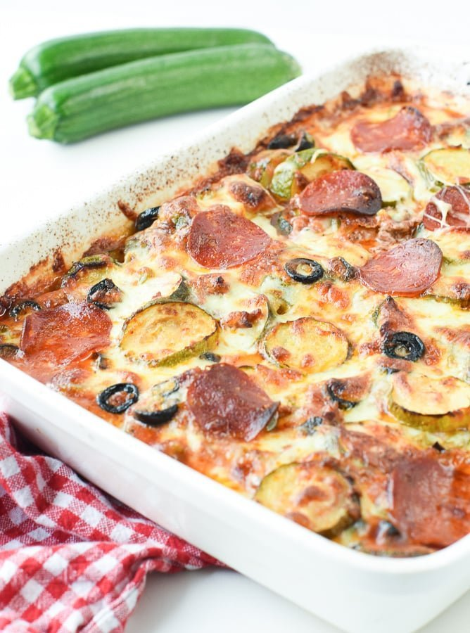 Keto Pizza Casserole without cauliflower